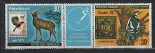 PHILEXAFRIQUE 79 ANIMAUX DIVERS Rwanda 2 val ** de 1979 OISEAU CERF