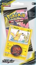New listing Pokemon Team Up Pikachu Checklane Blister Booster Pack Factory Sealed!