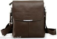 Brown Faux Leather Videng Mens Crossbody Messenger Shoulder IPad Manbag Man Bag