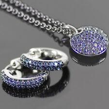 ESPRIT Halskette Kette Ohrringe Creolen Schmuck Set BLUE SPIRIT Collier Anhänger