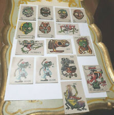15 1966 MAKE YOUR OWN NAME UGLY MONSTER STICKER TRADING CARDS TOPPS LOT