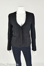 *ALEXANDER WANG* SILK MIX BUTTON UP JACKET (UK 8)