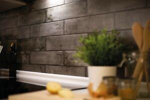 metro Waterproof & Washable 3D Tile Wallpaper Grey Bricks Asmant 67.5cmx4m DCFIX