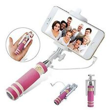 Pink Foldable Mini Handheld Extendable Selfie Stick For Motorola Moto x⁴ z² g⁵