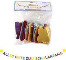 1 Girlande Schulanfang Wimpelkette Schultüte Einschulung Schule Deko #1307