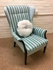 Parker Knoll  Wing back chair ( model 750 ) newly Upholstered in blended wool