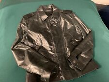 Vintage Gianni Versace Black Leather Men's Jacket, Size: Euro 52