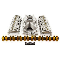 Chevy SBC 15 Degree 230cc 61cc Cylinder Head Top End Engine Combo Kit