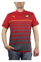 Puma Cameroon Hoped Polo Herren rot gelb Fußball Kamerun 744540 01