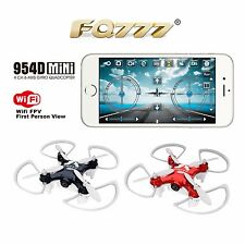 Fq777-954D Mini Rc Quadcopter Drone Wifi Fpv Real Time Transmission with 0.3Mp