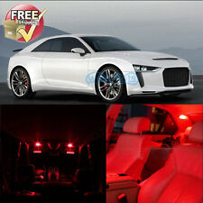Red Interior LED Lights Package 6 Pieces Fit For 2006-2013 Audi TT TTS Canbus