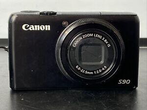 Canon PowerShot S90 10.0MP Digital Camera - Black