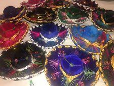 """Mexican Sombrero Set of 5 Mini Charro Hats Fiesta Decorations Or Pet Hat 6"""""""