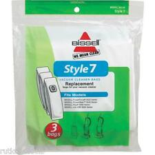 """3-Pack Bissell Style """"7"""" Vacuum Bags for PowerForce PowerGlide Plus Lift- Off"""