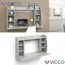 VICCO Wandschreibtisch MAX Beton Wandtisch Schreibtisch Wandregal Bürotisch PC
