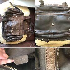 Vintage Brown Leather Studded Chloe Shoulder Bag AUTHENTIC Dust Bag