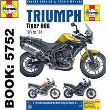 Triumph Tiger 800 Haynes Manual 2010 -2014 Inc ABS Models