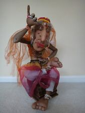 "Ooak ""Magic of Yoga� Indian Mystic Man Doll, Indian Yogi doingdifficult posture"