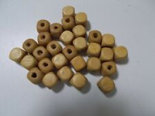 150pcs 12mm Wooden CUBE Squared Beads -  BEIGE A77