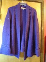 BEYOND THREADS Purple Long Sleeve Sweater Alpaca Wool Size Large