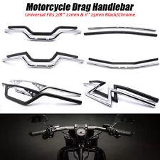 "1"" 7/8'' Motorcycle Drag Z-Bar Pullback Handlebar For Suzuki Honda Harley Yamaha"