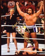 Rusev Lana Signed 8x10 Photo Wrestlemania Total Divas WWE NXT AEW ROH TNA