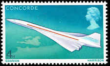 Scott # 581 - 1969 - ' Concorde in Flight '; Phosphor Lined Paper