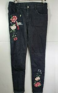 Miss Understood Jeans - Embroidered - Black - Size 14 - Stretch