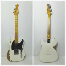 Haze TLA Relic Guitar-White, Tele. Style,Solid Alder Body,Maple Neck.SS+Free Bag
