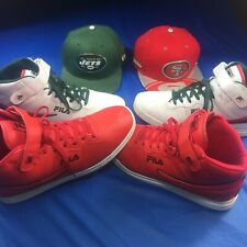 Lot of 2 Vtg 0s NFL Snapback 2 Pairs Matching Fila Shoes 11wh 11.5redEstate Find