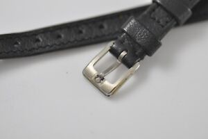 Omega 11mm Original Band Strap Black with Buckle New Old Stock NOS (w66)