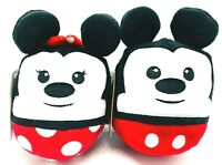 HALLMARK DISNEY FLUFFBALLS ORNAMENTS - MICKEY MOUSE & MINNIE MOUSE - NEW
