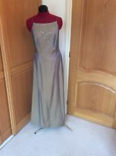DEBUT.  GOLD SEQUIN.   FULL LENGTH MAXI   DRESS. SIZE 12.  PROM  COCKTAIL  PARTY