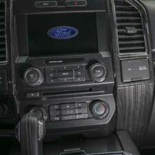 17-20 Ford F250 F350 Molded Black Wood Grain Center Vent Dashboard Bezel Trim