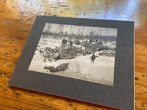 Original Legrand Michigan Logging Photograph Cabinet Card Northern Lumberjacks