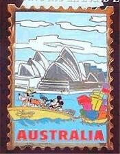 AUSTRALIA STAMP The Disney Store #9 Walt DISNEY 100th YEAR 2001 JDS LE 5000 PIN