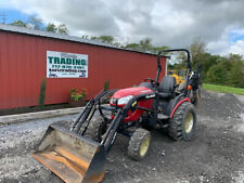 2018 Yanmar Sa242 4x4 Hydro 24hp Compact Tractor Loader Backhoe Clean 700hrs