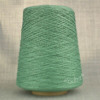 SOFT MERCERISED COTTON YARN 500g CONE 3 PLY SAGE GREEN MACHINE KNITTING WEAVING