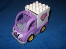 Lego Duplo Ville Rosie der Krankenwagen mit Gesicht Lila Pink aus 10605