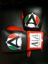 Always Amazing Mx Boxing Gloves 10 oz. laced Grant Style Black Red Training glov
