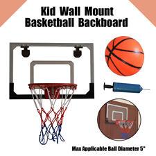Portable Mini Basketball Hoop System Goal Over Door Indoor Sports Ball Pump USA