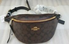 Coach F48740 Belt/Waist Bag Signtr Canvas Leather Brown/Black NWT $298 SOLD OUT!