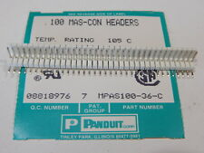 Panduit Mpas100 36 C 36 Position Right Angle 0100 Header 300v Connector