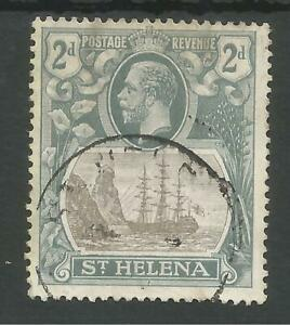 ST HELENA SG100a THE 1922-37GV 2d GREY AND SLATE VARIETY BROKEN MAINMAST C.£100