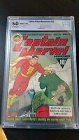Captain Marvel Adventures 22 (1943) 1st Mr Mind (Voice) Shazam CBCS not CGC 5.0