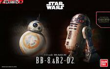BB-8 & R2-D2 Droids Star Wars The Force Awakens Scale 1/12 Model Bandai