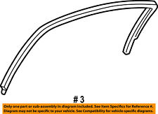Dodge CHRYSLER OEM Window Glass-Rear Door-Run Weather Strip Left 4780165AG