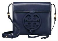 NWT TORY BURCH Miller CrossBody Classic Leather Logo Royal Navy Blue 47123