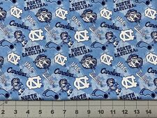 "UNC UNIVERSITY NORTH CAROLINA TARHEELS Tone 7.5 In (7.5""x43"") 100% Cotton Fabric"