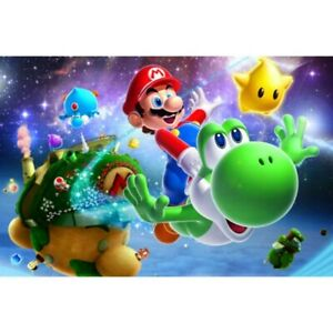 5D Full Drill Diamond Painting Flying Mario Cross Stitch Kits Arts Decor Gifts